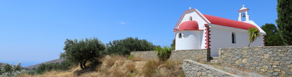 chiesetta ortodossa greca lungo la strada tra Istro e Matala
