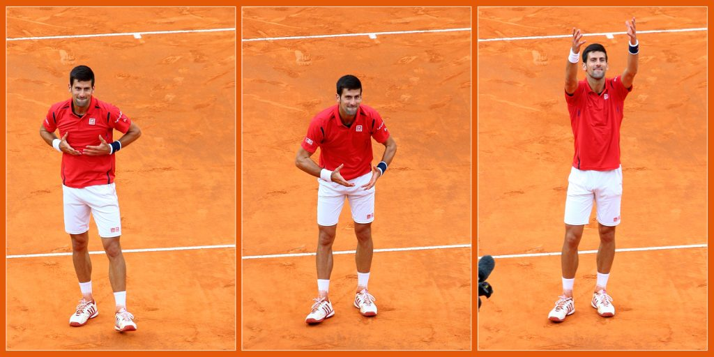 Novak ci saluta col suo cuore grande!!!